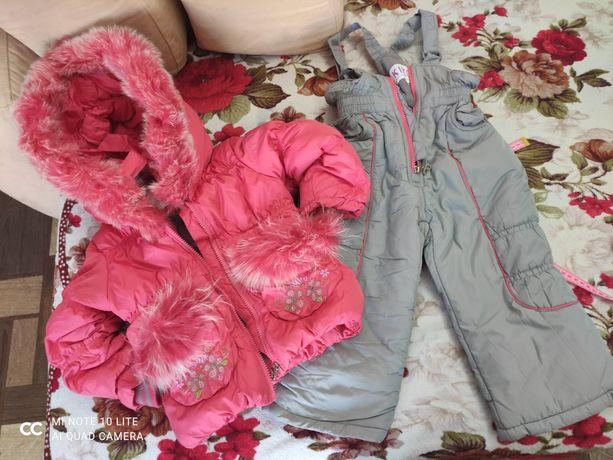 Комплект комбинезон костюм зимний Кико 92+