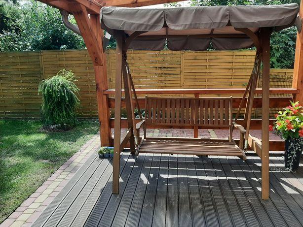 Huśtawka ogrodowa tarasowa drewniana