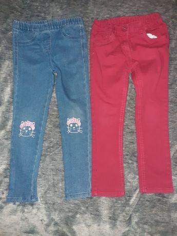 Spodnie 110/116 tregginsy jeansy