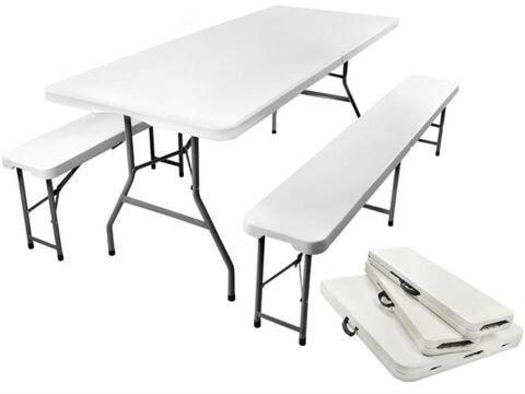 Набор садовый складной стол и 2 скамейки Стіл та лавки 180 см