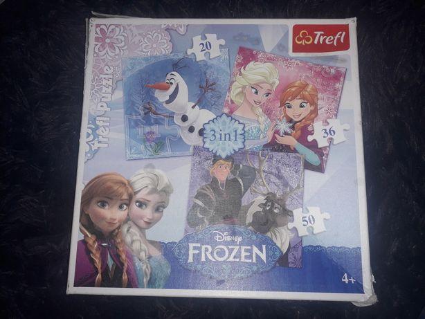 Puzzle 3w1 Kraina lodu , frozen trefl