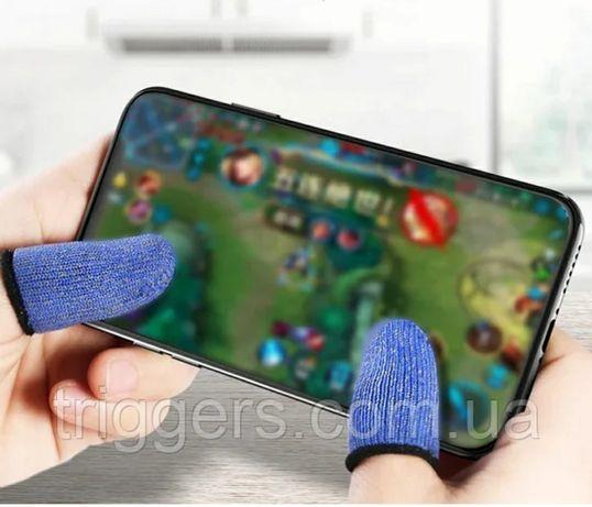 Синие напальчники Union F1 на сенсорные экраны PUBG Mobile COD Warface