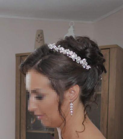 Sprzedam piękną ozdobę ślubną we włosy/opaska
