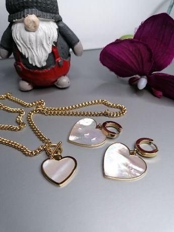 komplet biżuterii złota stal chirurgiczna modabeatrice