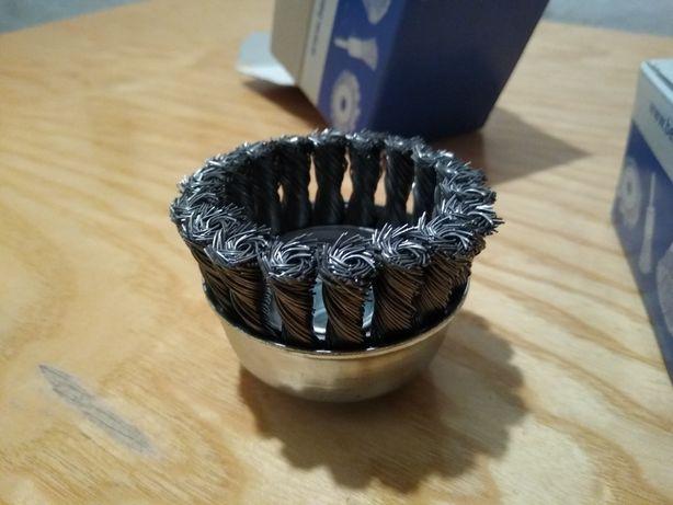 Szczotka druciana garnkowa Super Jakość Made In Germany na szlifierkę