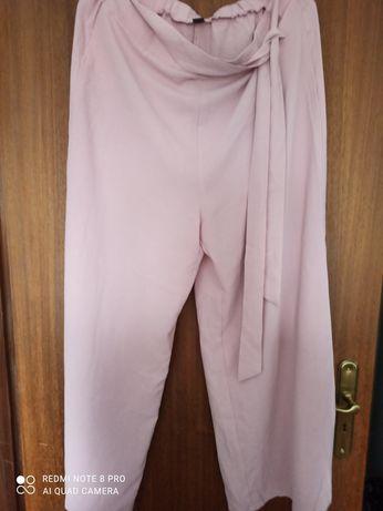 Calça larga rosa XXL