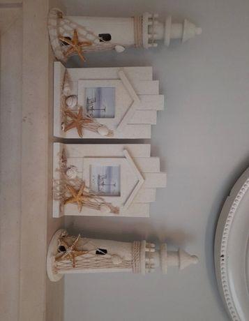 2 Molduras 2 Farois decorativos
