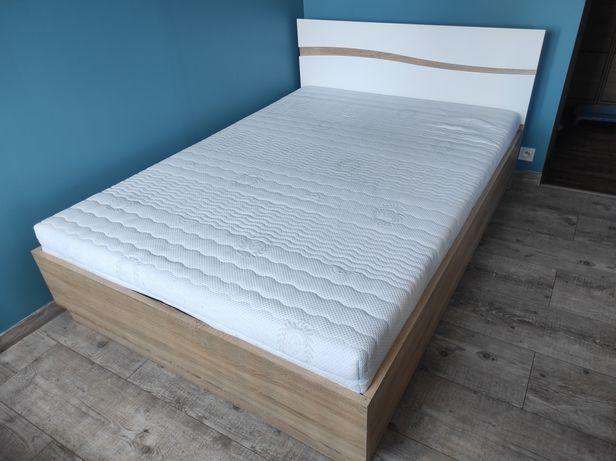 Łóżko sypialniane z pojemnikiem, materacem + gratis 140x200