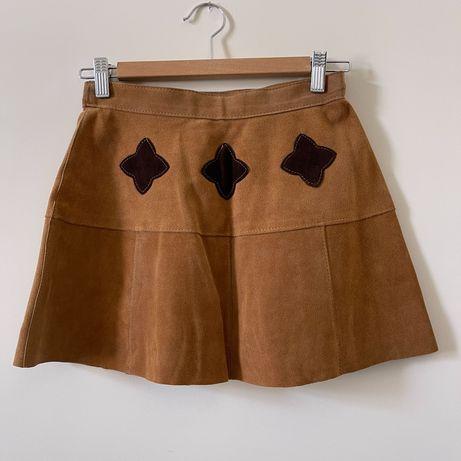 Кожаная юбка в стиле хиппи бохо
