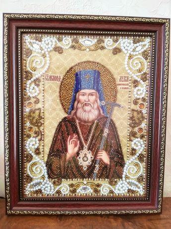 Вышитая икона Св Луки