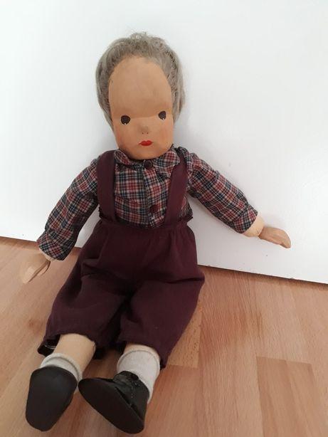 Duża lalka drewniano-szmaciana 55cm