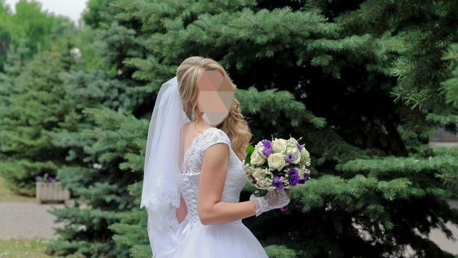 Платье выпуское свадебное торжественное вечернее
