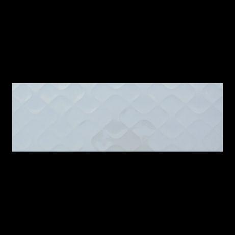 Płytki Ścienne Ceramiczne Białe Błyszczące Dekor Ribbon 25x75