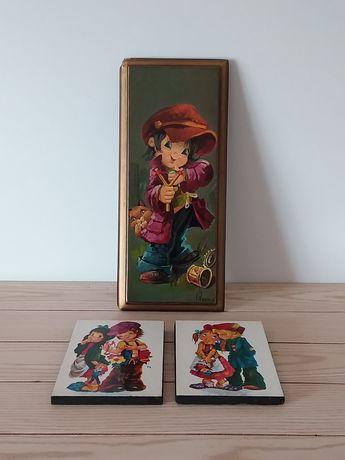 Quadros antigos com pinturas de Crianças por Vernet
