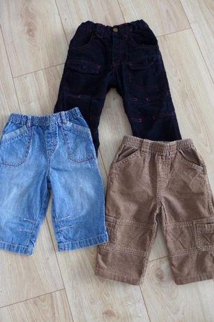 Spodnie 3 szt. 74-80