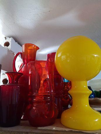 Szklana lampa PRL