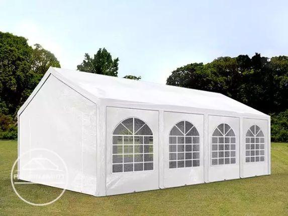 4x8 m Namiot imprezowy, ogrodowy PE 240 g/m², biały