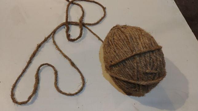 Sznur konopny grubość 5 mm, ozdobny sznurek