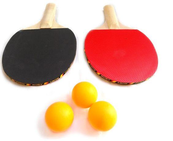 PALETKI do ping-ponga tenisa stołowego 2 szt + 3 piłeczki GRATIS.Nowe