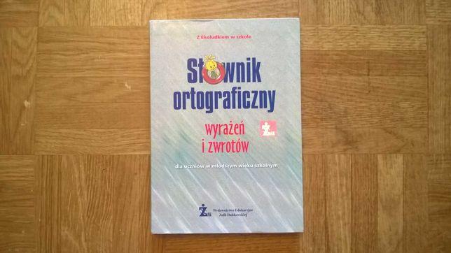 Książka słownik ortograficzne wyrażeń i zwrotów