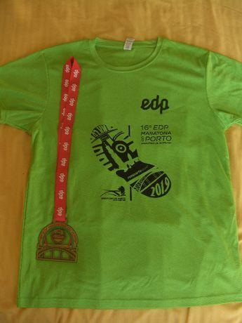 camisola e medalha Maratona do Porto 2019