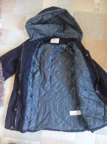 Куртка, парка, дафлкоат для девочки Zara, р.140.