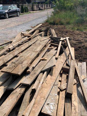 Drewno, deski poszalunkowe na opał