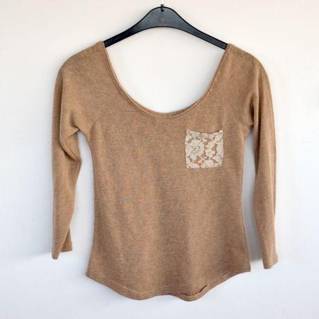 Brązowy cienki sweterek s/m