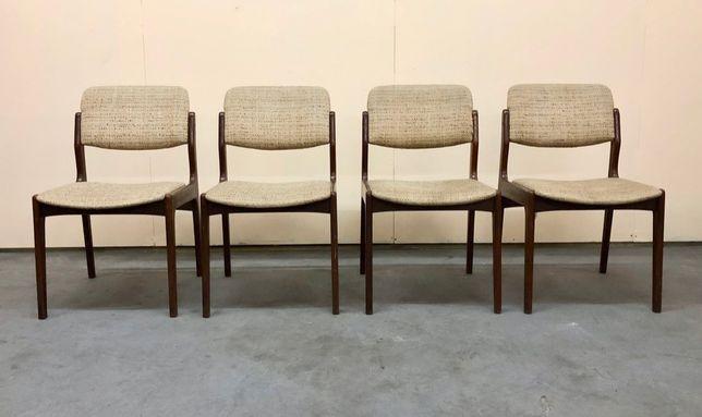 Komplet czterech krzeseł DESIGN Danish teak duńskie VINTAGE