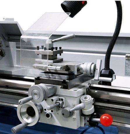 Torno mecânico monofásico para metais com caixa norton