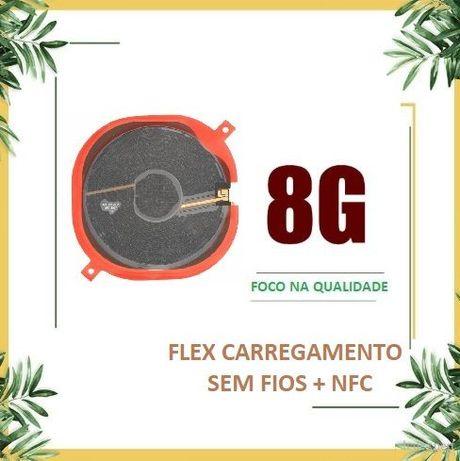 Flex Carregamento sem Fios com Antena NFC para iPhone 8