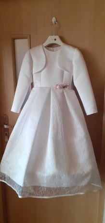 Sukienka komunijna 134 S + gratis dodatki