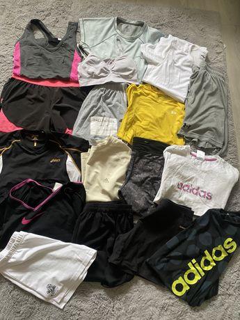 Zestaw sportowych ubran fitness adidas nike asics under armour 38 M ok