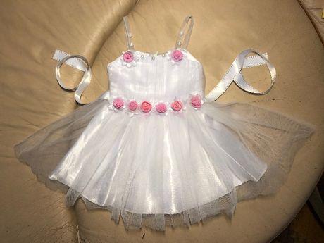 Платье для девочки 2в1 на 4-12 торжество , крестины,  день рождения.