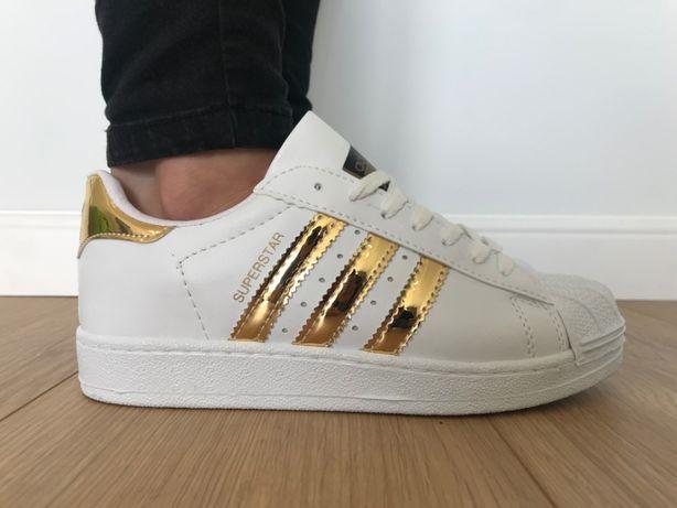Adidas Superstar. Rozmiar 38. Białe - Złote paski. Super cena!
