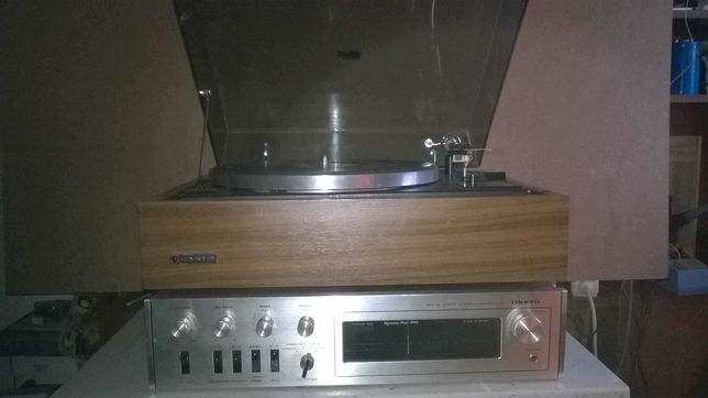 Reservado Gira discos e receiver Onkyo dynamic four 800