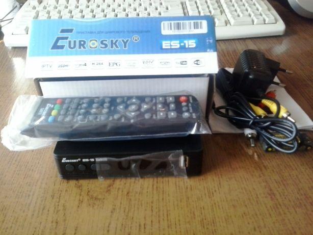 Продам новий тюнер Т2 Eurosky ES-15.