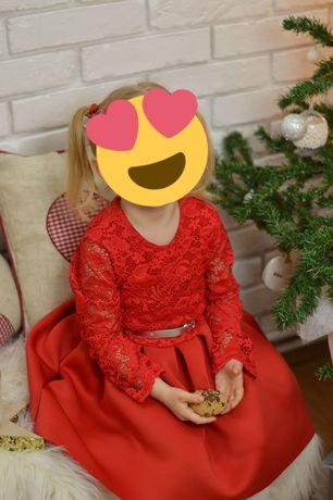 Piękna czerwona sukienka 116