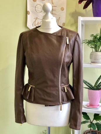 Куртка кожаная коричневая Roberta Biagi , Twin Set, lui Jo, max mara