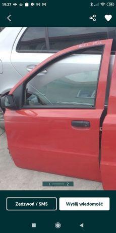 Drzwi lewe przednie lewy przód Fiat Panda II 199A z lusterkiem boczek