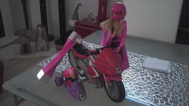 Motocykl + lalka Tajna Agentka z psem