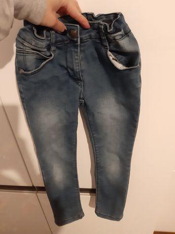 Spodnie jeansy rurki r.116