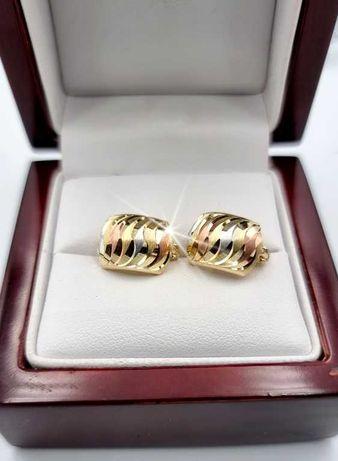 585 Piękne złote kolczyki * 3 kolory złota