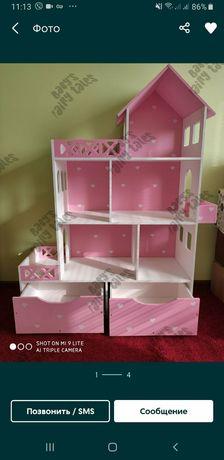 АКЦИЯ!Домик для кукол, кукольный домик, мебель, текстиль