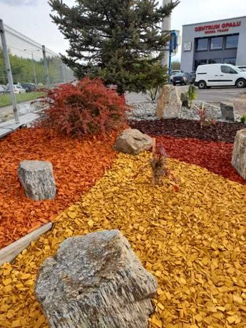 kora drzewna (kolor) - ozdoby, kamienie