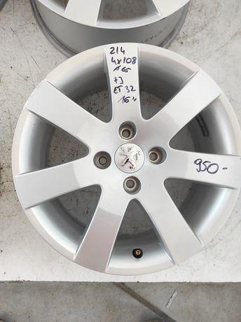 214 Felgi aluminiowe ORYGINAŁ PEUGEOT R 16 4x108 otwór 65