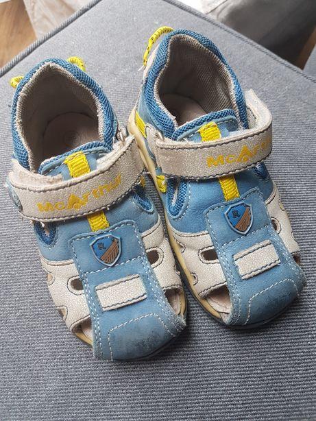 Skorzane sandały dla chłopca Rozm.22