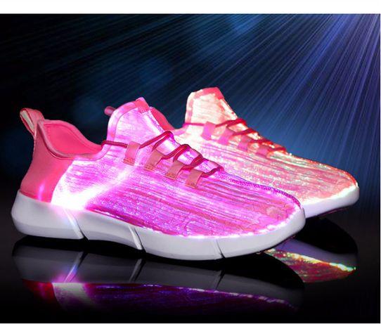 Светящиеся LED кроссовки вся поверхность (оптоволокно) Новинка Детские