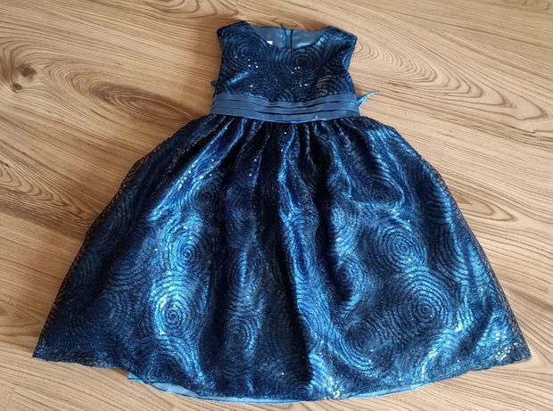 Sukieneczka 104 Cinderella 110 elegancka święta cekiny szkoła wesele