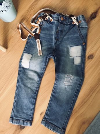 Spodnie na szelkach rozmiar 92